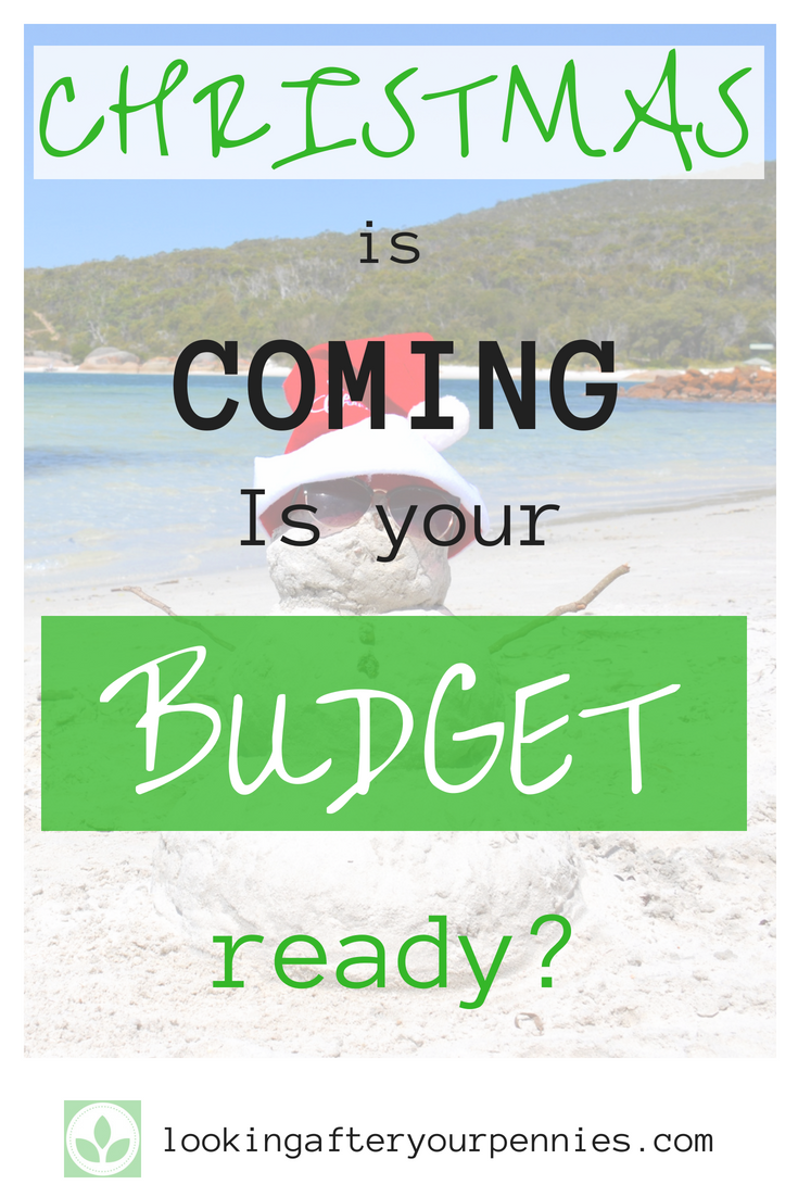 Whether you are trying to live frugally or aiming to get debt free, Christmas can prove quite a challenge! That's why I recommend thinking about it now and making a savings plan. Putting Christmas into your budget earlier will take the stress out later. Take a look at how to get your budget ready! #Christmas #budget #debtfree #savings #lookingafteryourpennies