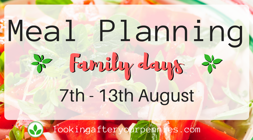 Meal Planning: Family Days