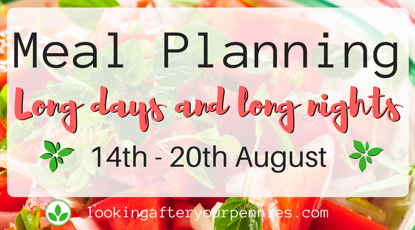 Meal Planning: Long Days and Long Nights