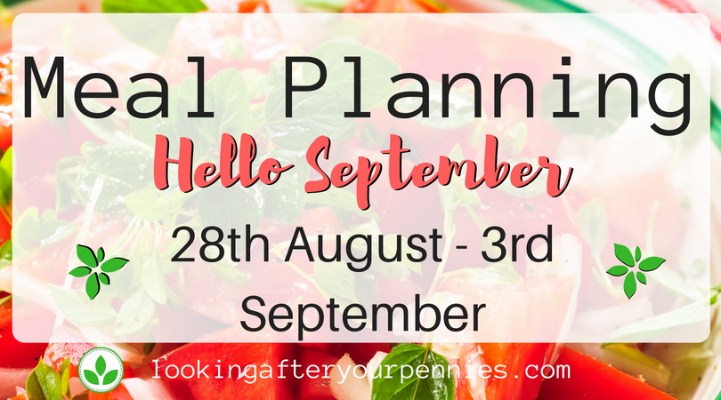 Meal Planning: Hello September