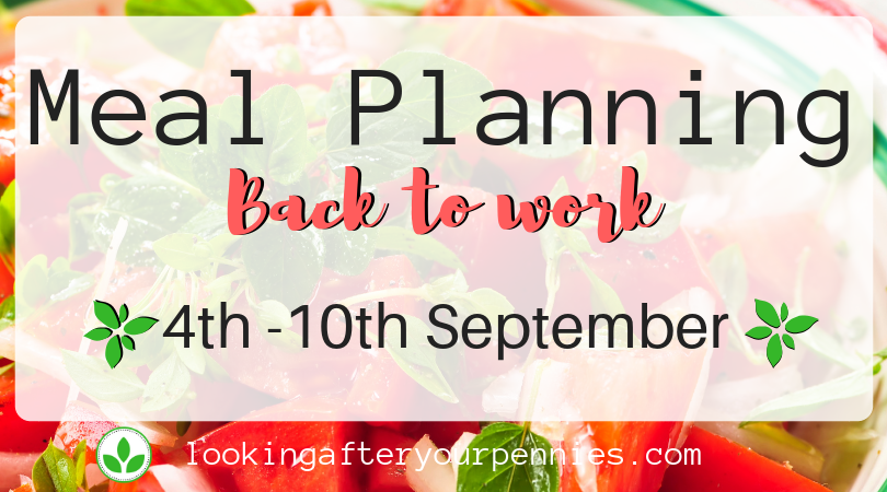 Meal Planning: Back to work