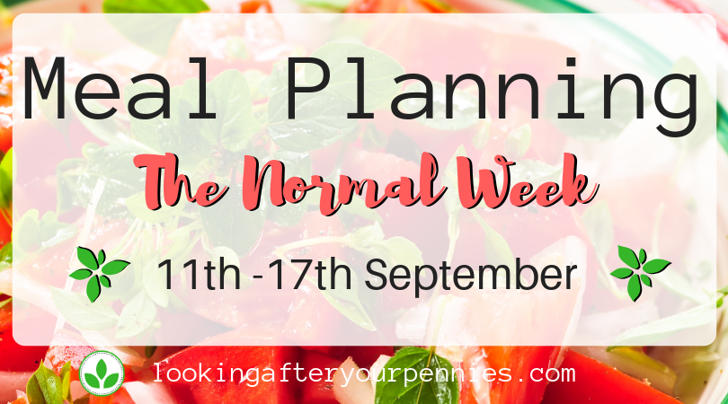 Meal Planning: The Normal Week