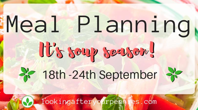 Meal Planning:  It's Soup Season