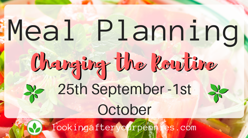 Meal Planning: Changing the Routine