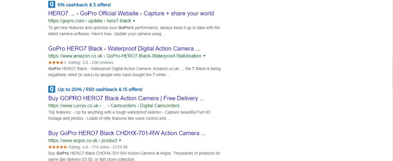 quidco cashback reminder google search